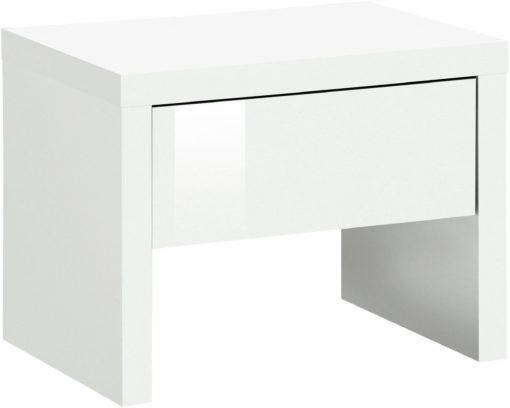 Ławka z siedziskiem i schowkiem, biała w połysku