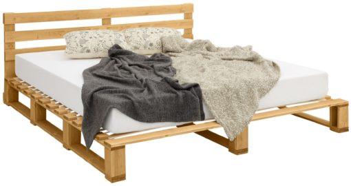 Sosnowe łóżko 180x200 cm z zagłówkiem
