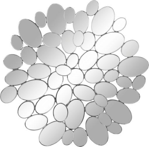 Srebrne lustro złożone z wielu małych elementów