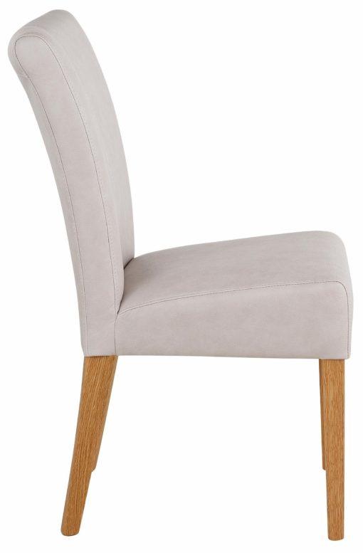 Krzesła dębowe tapicerowane sztuczną skórą - 5 sztuk
