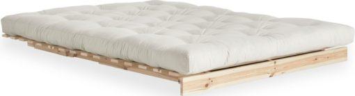 Nowoczesna kanapa z materacem futon 140 cm, naturalna