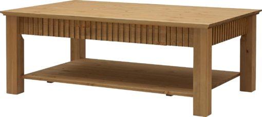 Stolik w rustykalnym stylu, sosnowy z szufladą
