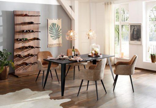 Ciemny stół do jadalni 180 cm