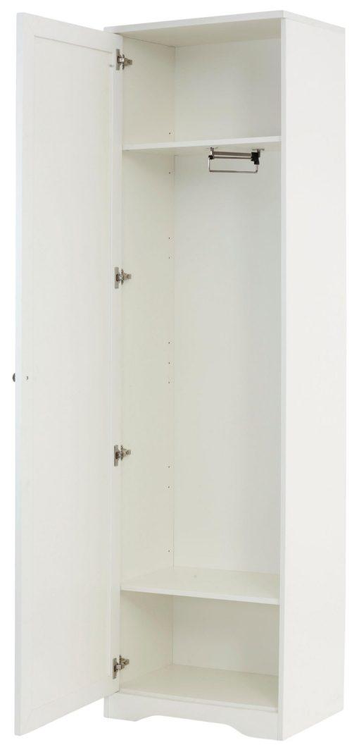 Jednodrzwiowa szafa biała, prosty design