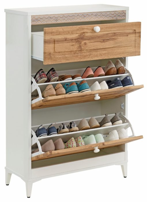 Szafka na buty o uroczym designie, z szufladą