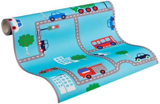 Przyjazna dzieciom, papierowa tapeta, wzór auta