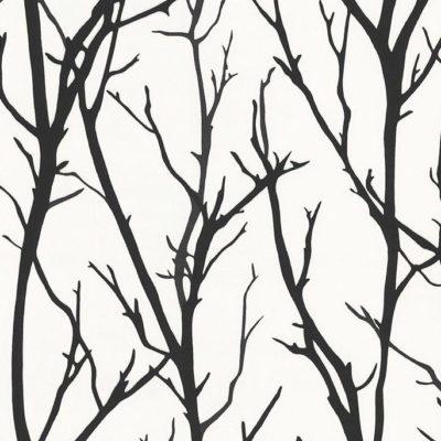 Tapeta włókninowa z motywem gałęzi