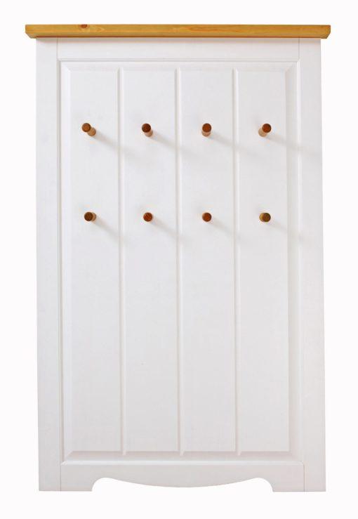 Sosnowy wieszak panelowy, biało miodowy