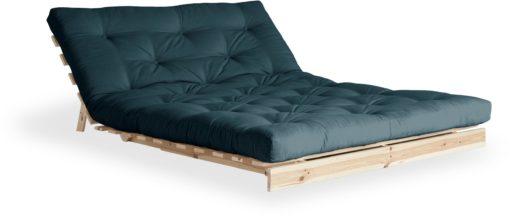 Nowoczesna kanapa z materacem futon 140 cm, petrol