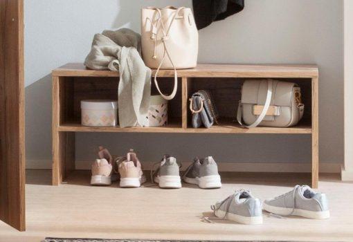 Ławka do przedpokoju ze schowkiem na buty