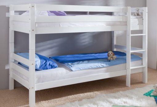 Bukowe łóżko piętrowe, także jako 2 osobne łóżka 90x200 cm