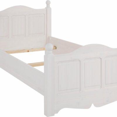 Piękne sosnowe łóżko 90x200 cm, białe