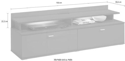 Nadstawka na szafkę rtv/ półka, grafitowa, matowa