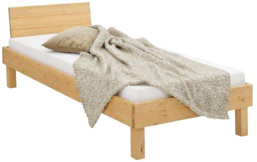Sosnowa rama łóżka 90x200 cm z wysokim zagłówkiem