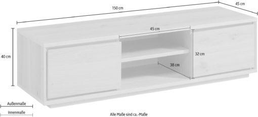 Szafka rtv, dąb naturalny, 150 cm