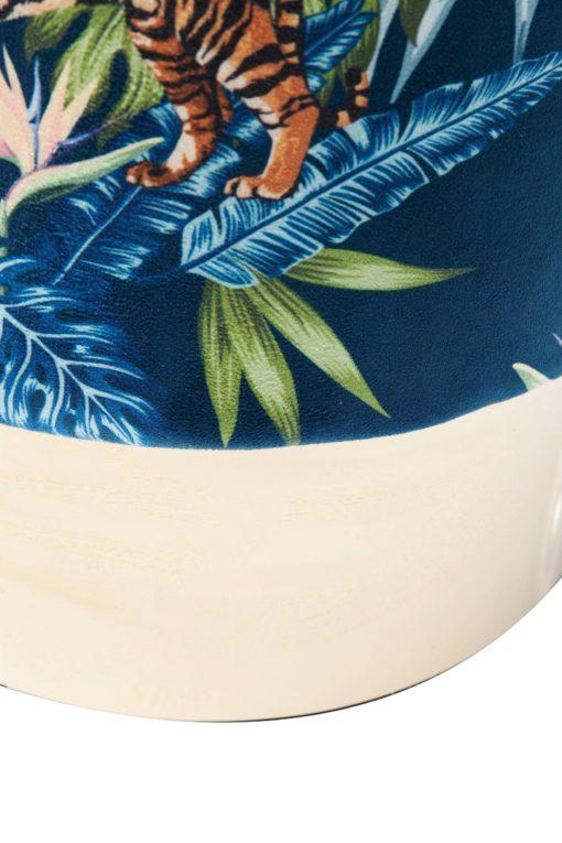 Elegancki stołek/ puff z egzotycznym wzorem, KARE