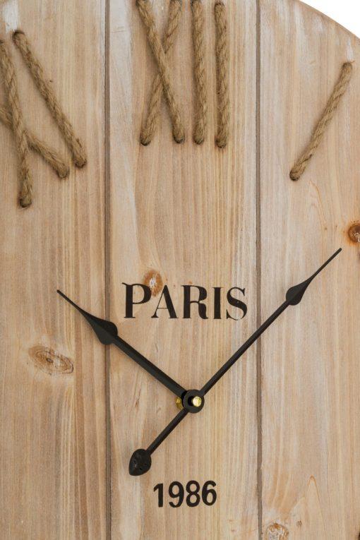 Zegar ścienny, skandynawski styl, sznurek i MDF