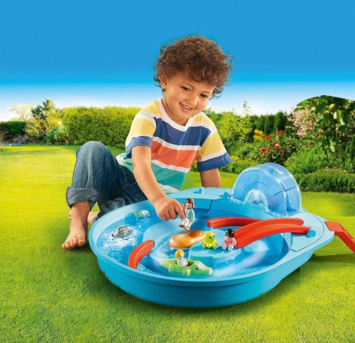 PLAYMOBIL  AQUA Happy Water Ride, basen i figurki