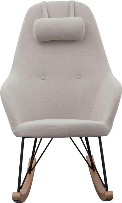 Nowoczesny fotel bujany w skandynawskim stylu - szary