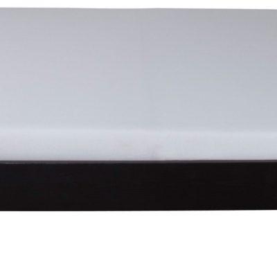Łóżko futon 180x200 cm ze stelażem, ciemnobrązowe