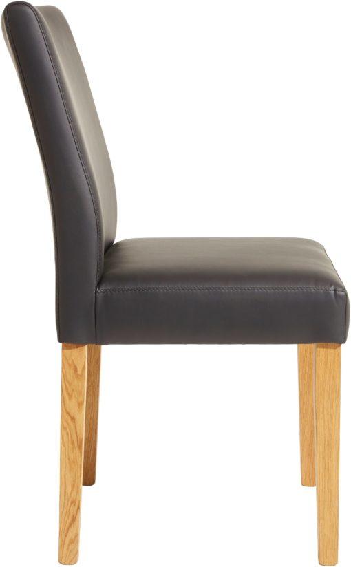 Klasyczne czarne krzesło, nogi dziki dąb