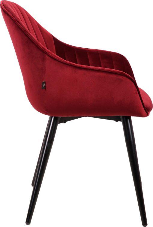 Wygodne, bordowe krzesła na metalowych nogach - 2 sztuki