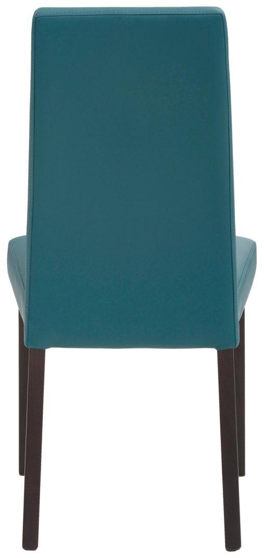Klasyczne krzesła ze sztucznej skóry, petrol - 4 sztuki