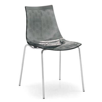 Nowoczesne szare krzesła na metalowych nogach - 2 sztuki