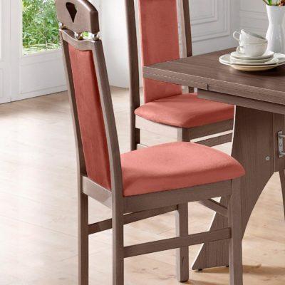 Drewniane stylowe krzesła - 2 sztuki, wenge
