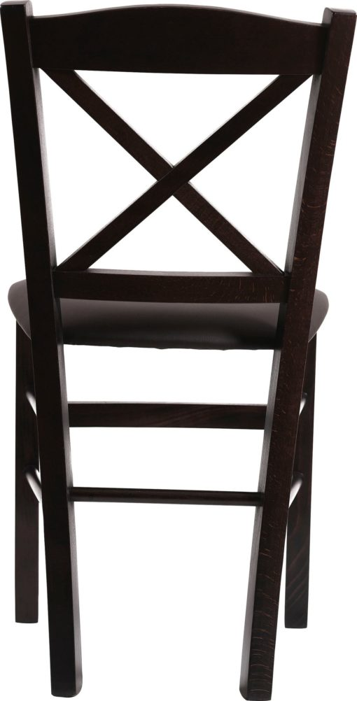 Bukowe krzesła ciemny brąz/ wenge - 4 sztuki