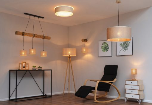 Lampa/ żyrandol w stylu industrialnym, sosnowa belka