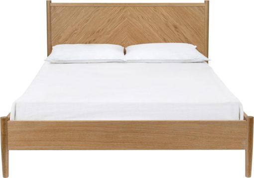 Rama łóżka 140x200 cm, styl skandynawski, dębowe nogi