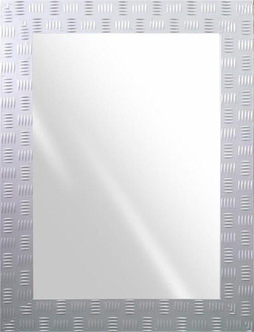 Dekoracyjne lustro ze zdobiona srebrna ramą