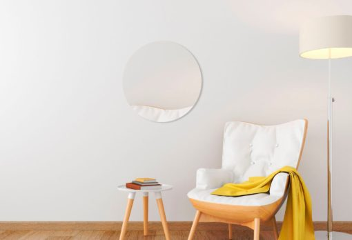 Okrągłe lustro bez ramy, 70 cm średnicy
