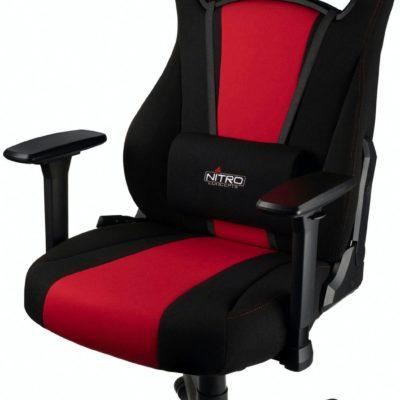 Ergonomiczny fotel gamingowy Nitro Concepts z poduszkami