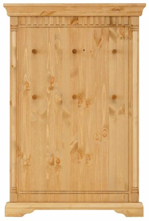 Sosnowy wieszak, panel 6 haczyków, olejowany