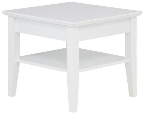 Biały stolik kawowy Piano, 60 cm, minimalistyczny