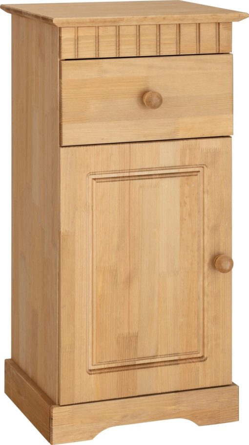 Sosnowa szafka z frezami, rustykalny styl