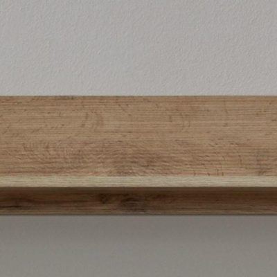 Długa półka ścienna, prosty design, kolor dąb wotan