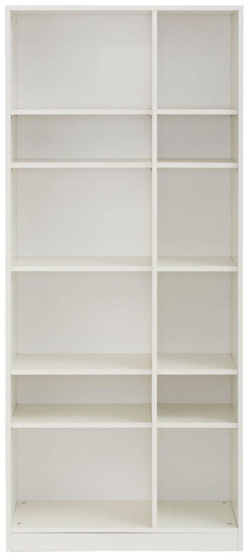 Biały regał systemowy, 78,5 cm szerokości