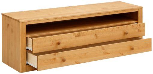 Sosnowa szafka rtv z szufladami, rustykalna