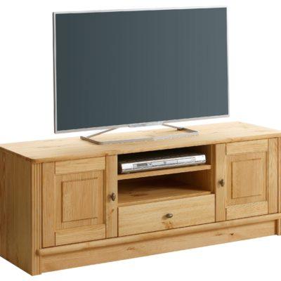 Szlachetna szafka pod telewizor z drewna sosnowego, olejowana
