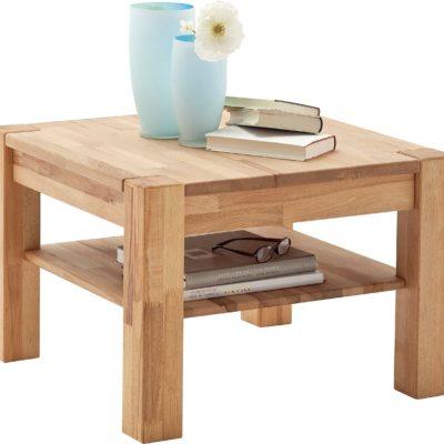 Stolik z drewna bukowego, olejowany, 65 cm, kwadratowy