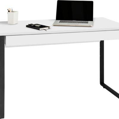 Biurko z szufladą w industrialnym stylu, biało czarne