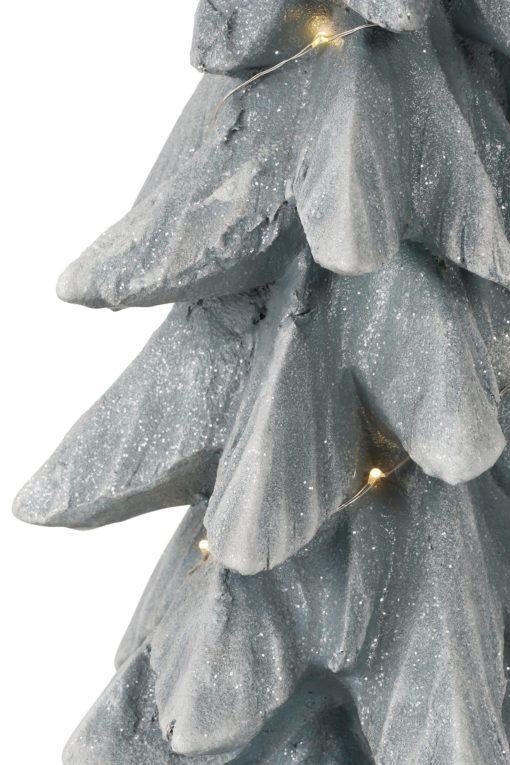 Dekoracyjna choinka z łańcuchem LED,  wykonana z magnezji
