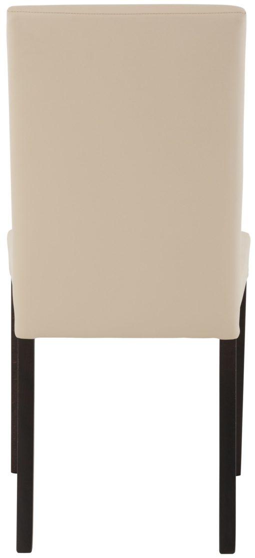 Gustowne beżowe krzesła, nogi wenge - 2 sztuki