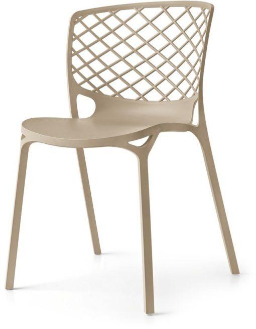 Stylowe krzesła z tworzywa sztucznego - 4 sztuki