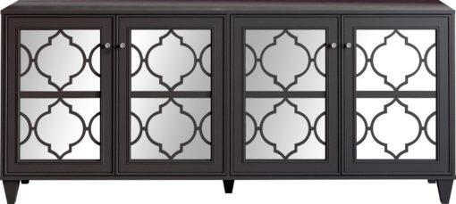 Kredens z lustrzanym frontem w orientalnym stylu, antracytowy