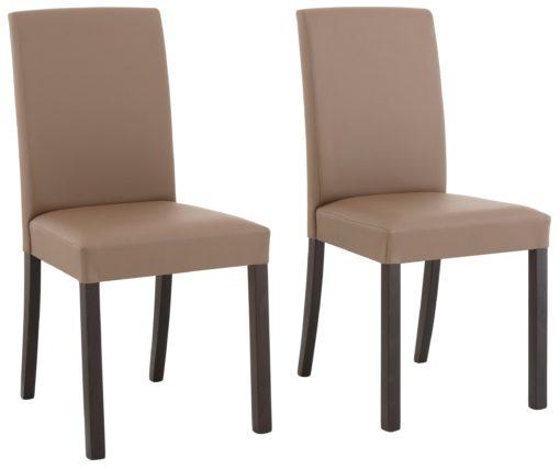 Gustowne, proste krzesła, szarobrązowe- 2 sztuki