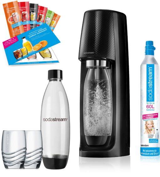Saturator SodaStream Easy, syfon, 2 butelki, szklanki, syropy